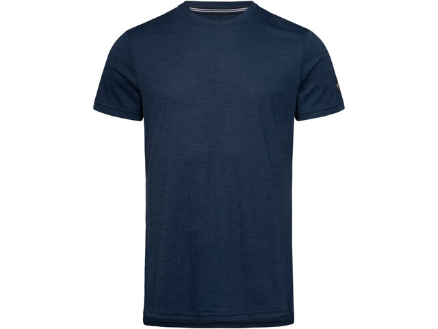 super.natural Graphic Camiseta Hombre, blue iris melange/jet black